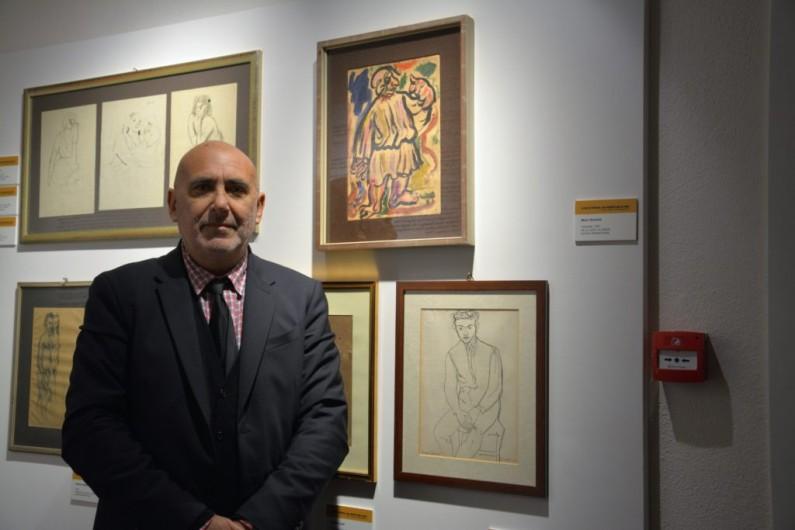 Lo scrittore Antonio De Luca e il pittore Mario Tarchetti